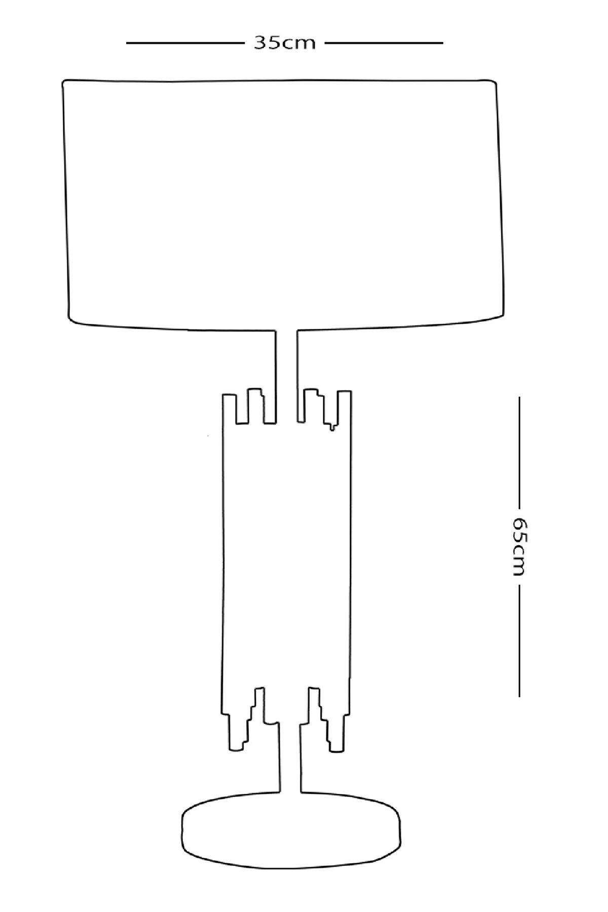 City Eskitme Abajur Masa Lambası