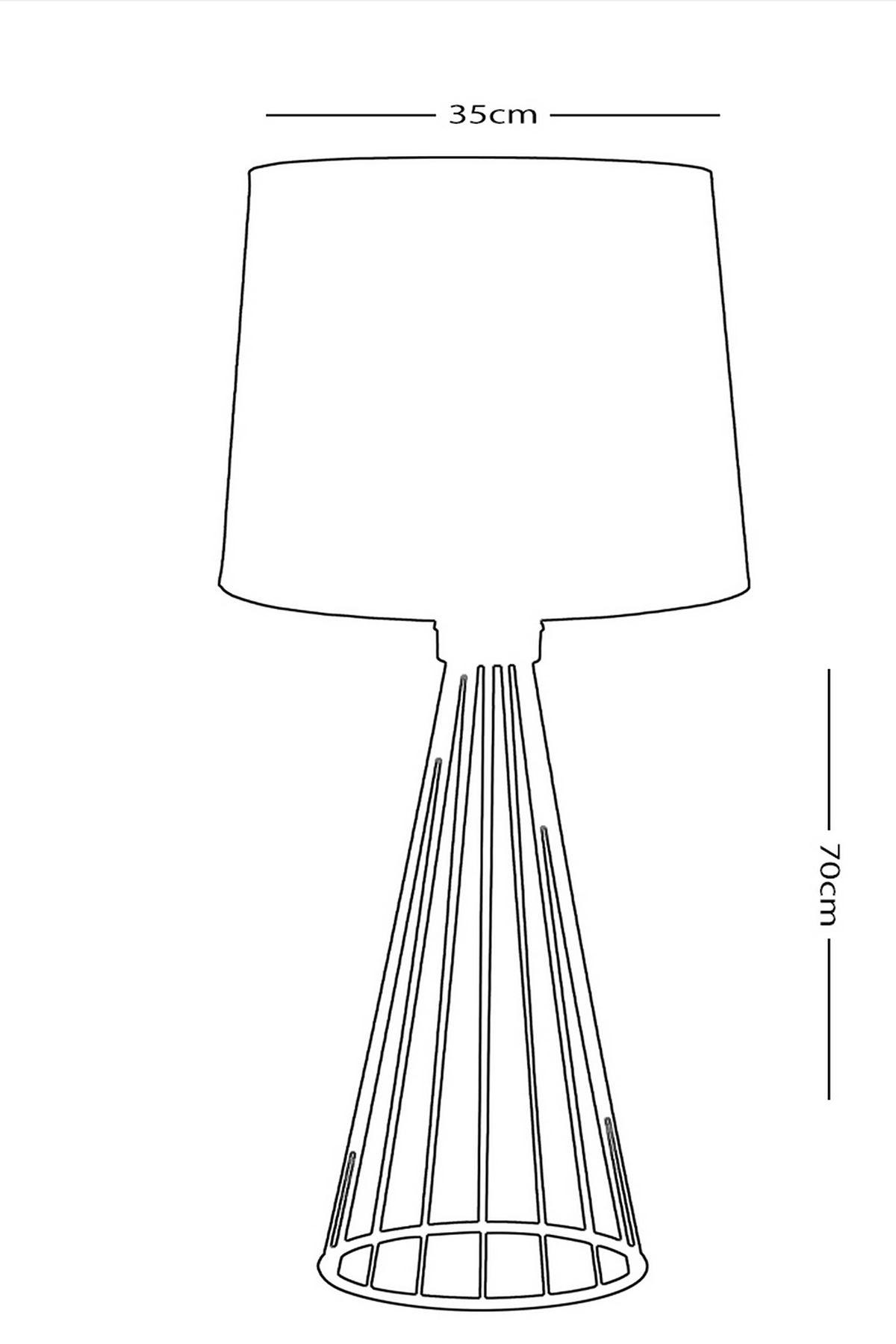 Poga Siyah Metal Abajur Masa Lambası