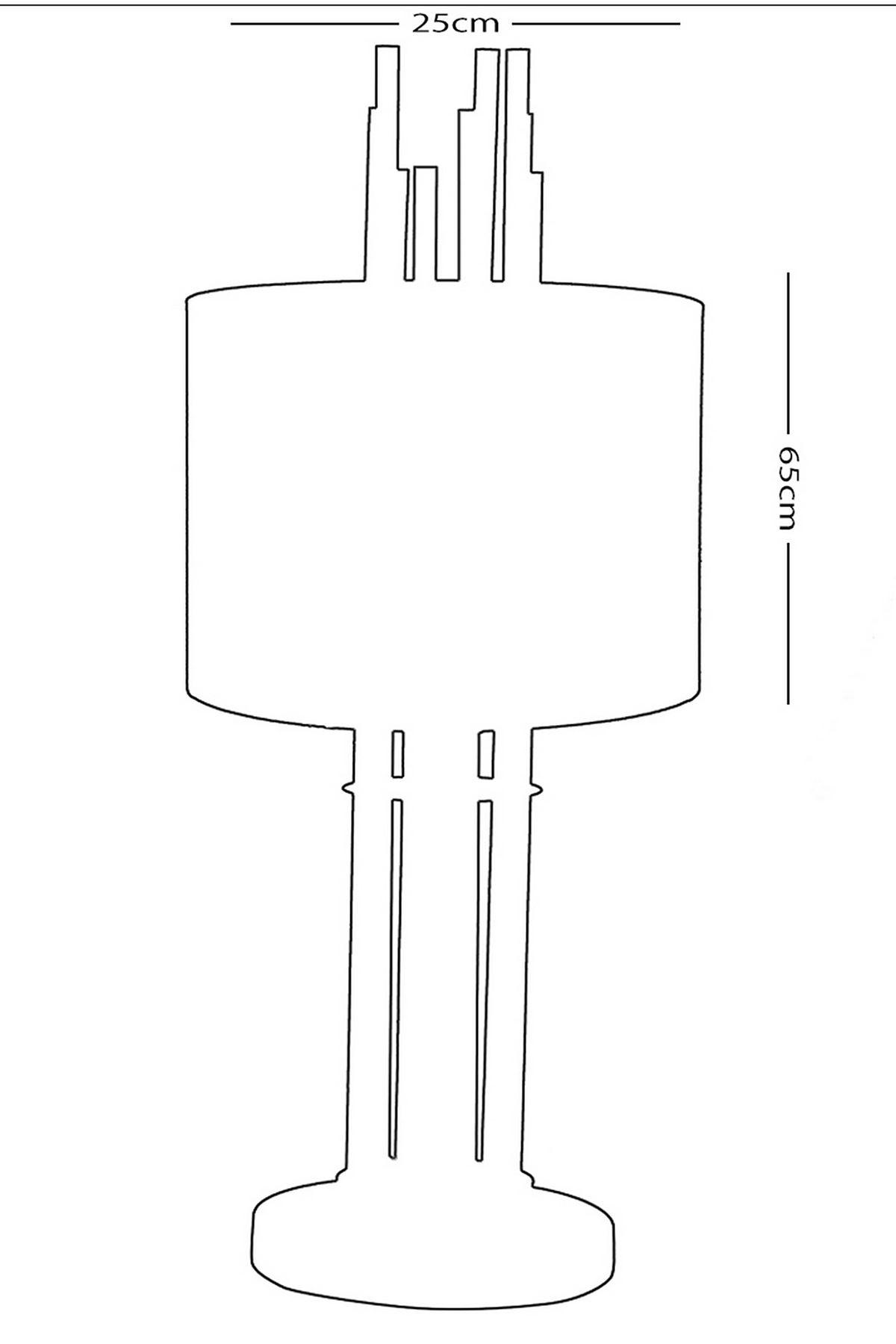 Tores Platin Metal Abajur Masa Lambası