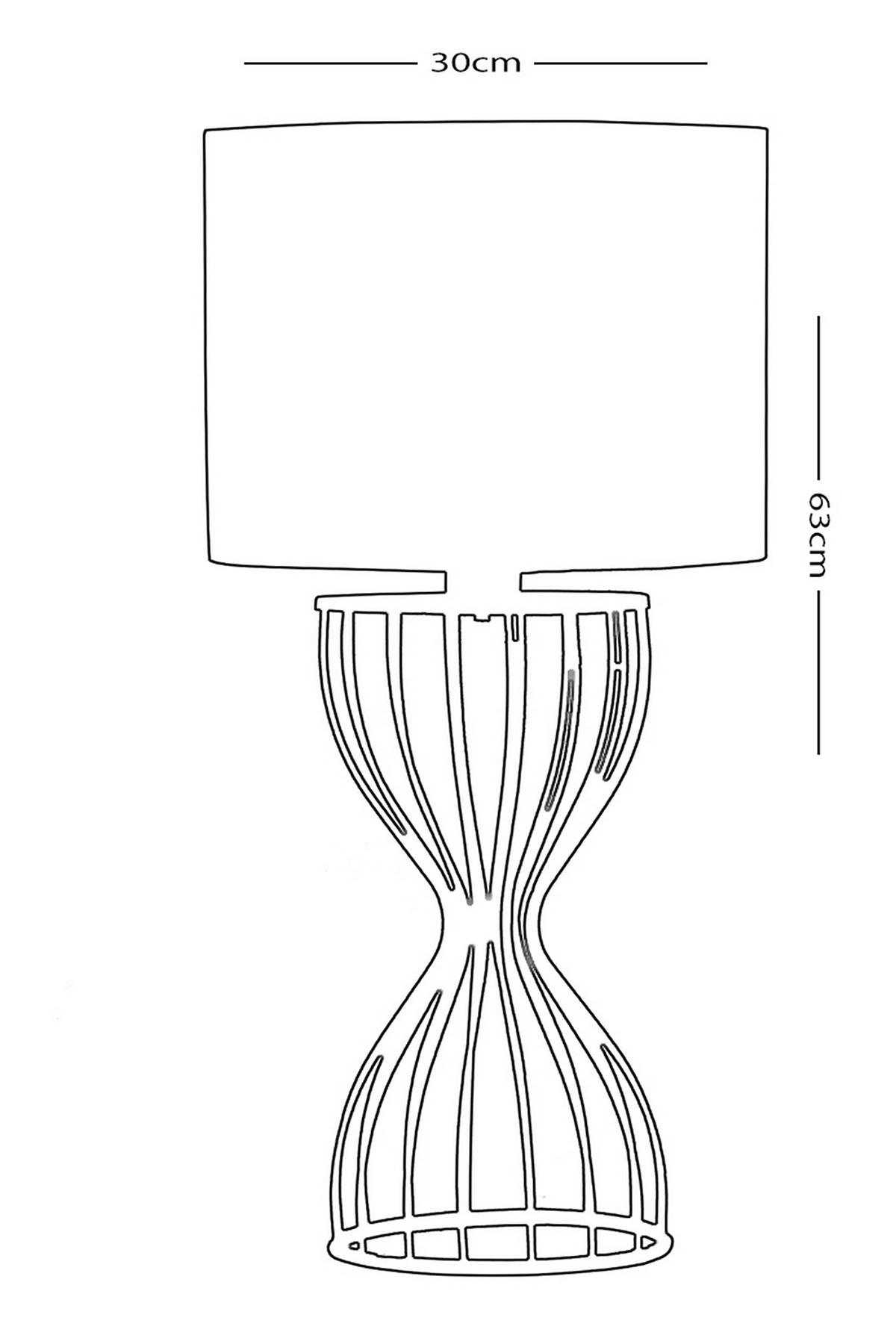 Tormento Sarı Metal Abajur Masa Lambası