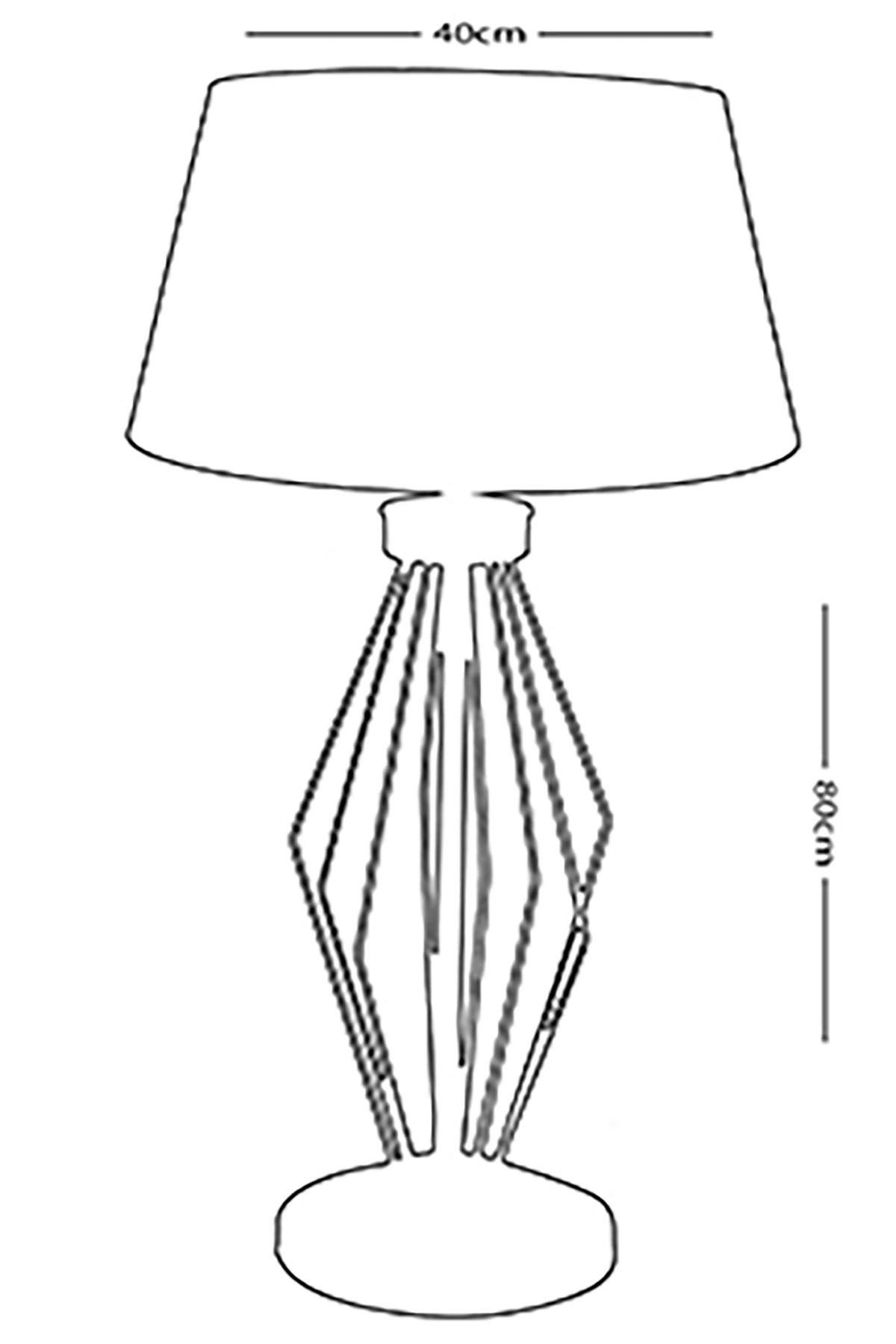 Zigzag Eskitme Metal Abajur Masa Lambası