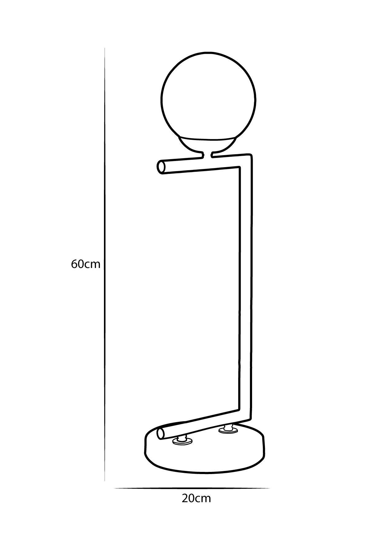 Casa Antrasit Gövde Beyaz Camlı Tasarım Lüx  Masa Lambası