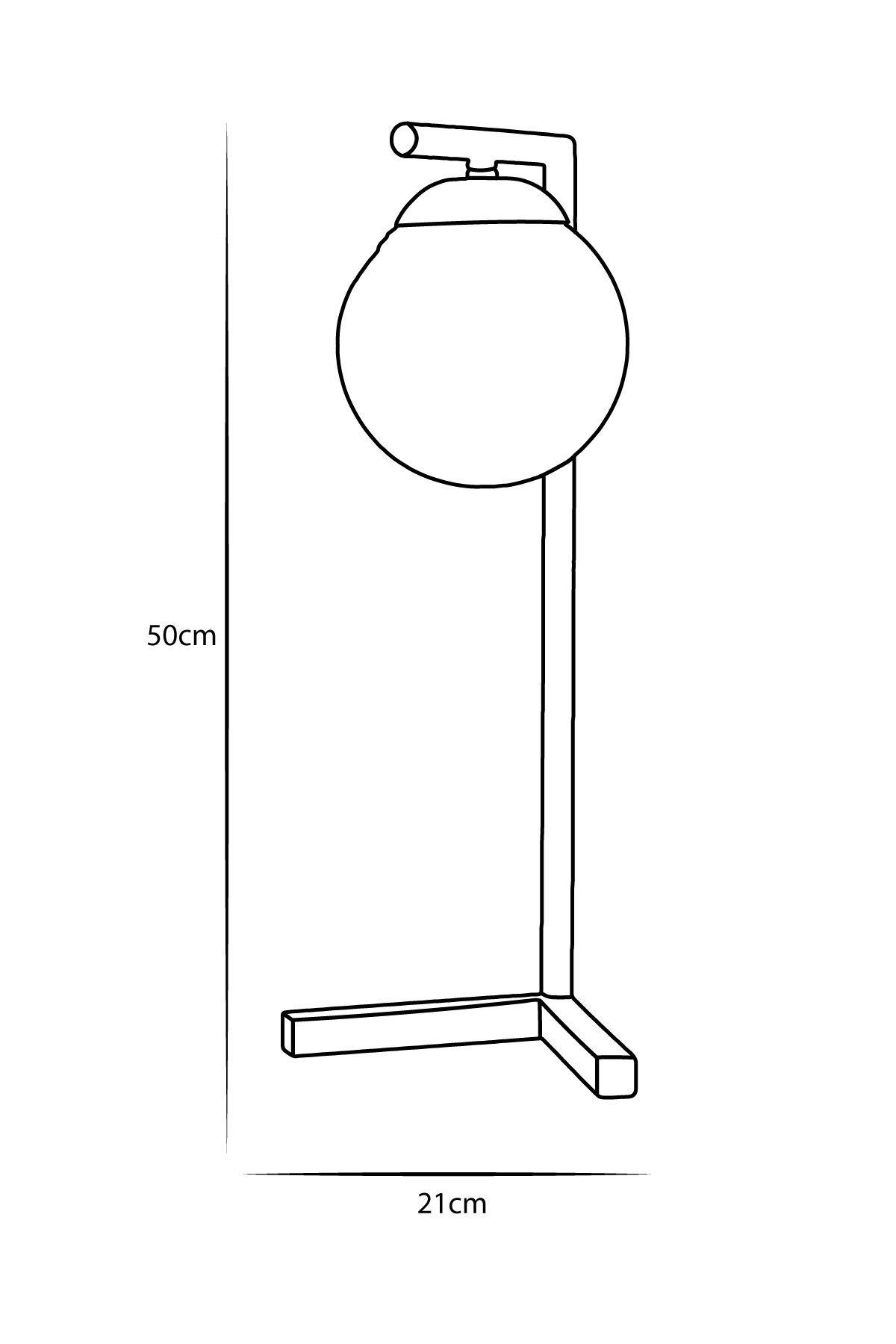 Linda Sarı Metal Gövde Beyaz Camlı Tasarım Lüx Masa Lambası