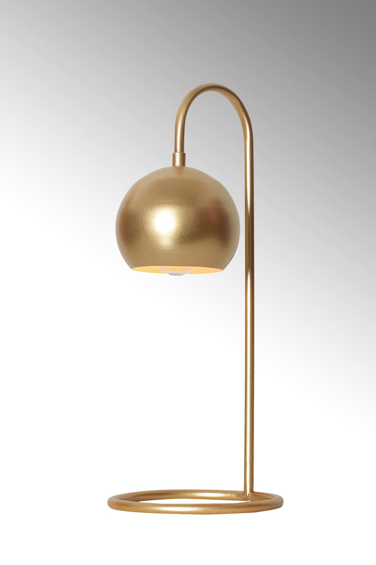 Sonar Sarı Metal Tasarım Lüx Masa Lambası