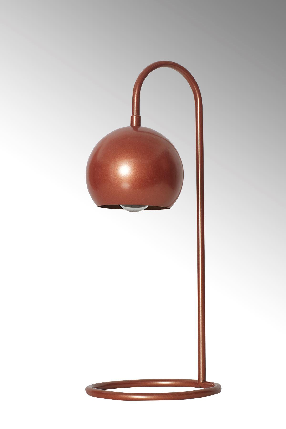 Sonar Bakır Metal Tasarım Lüx Masa Lambası