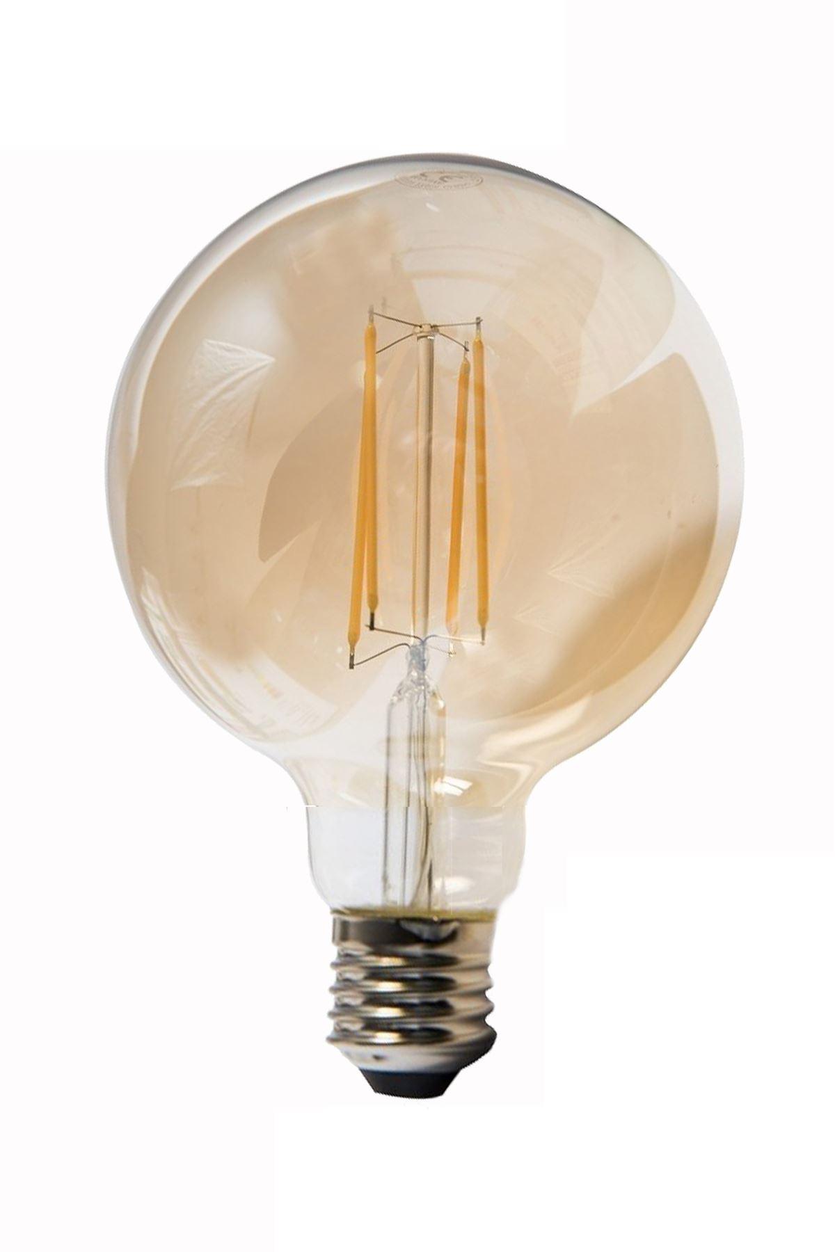 HEKA  E27  8 Watt Gün Işığı  Dimerli Tip Filament Edison Tip Rustik Top LED Ampül (750 lümen)