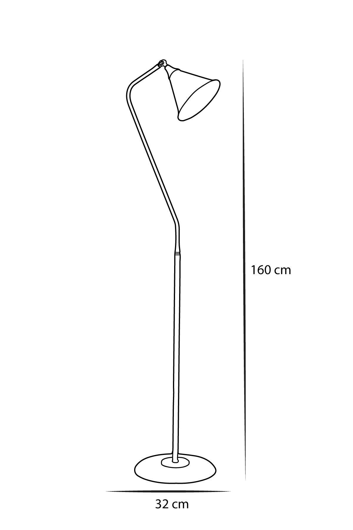 Kapo Sarı -Siyah Metal Gövde Tasarım Lüx Yerden Aydınlatma Lambader