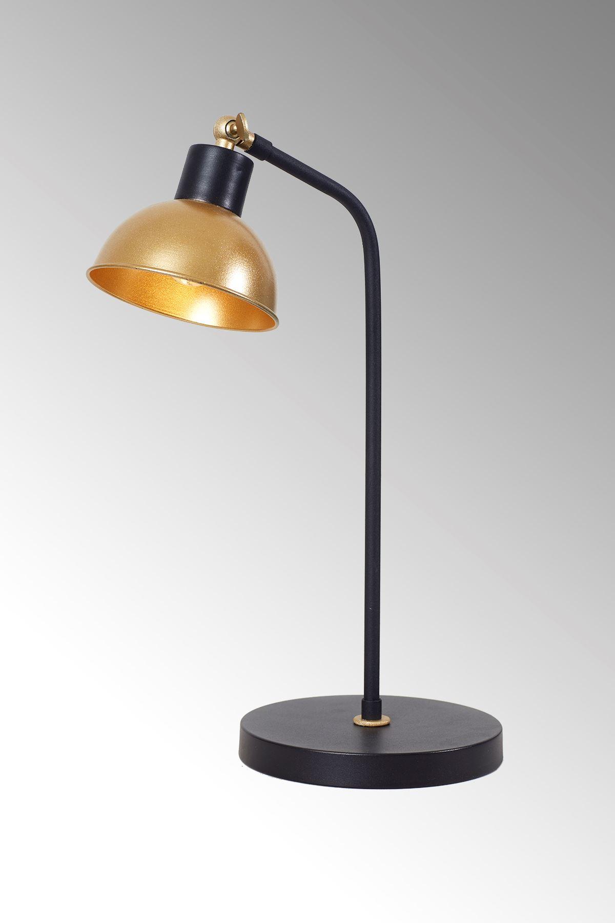 Dolce  Sarı-Siyah Metal Gövde Tasarım Lüx Masa Lambası