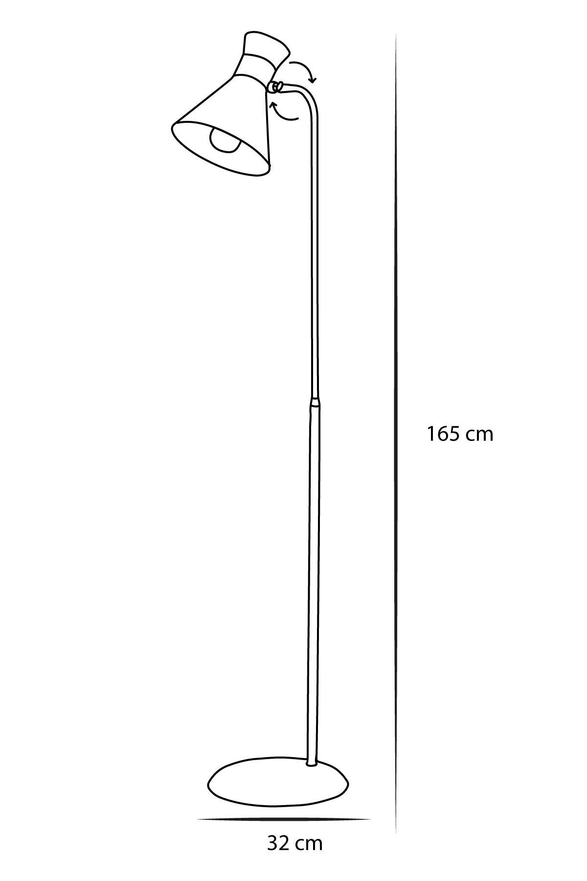 Omega Sarı-Siyah  Metal Gövde Tasarım Lüx Yerden Aaydınlatma Lambader