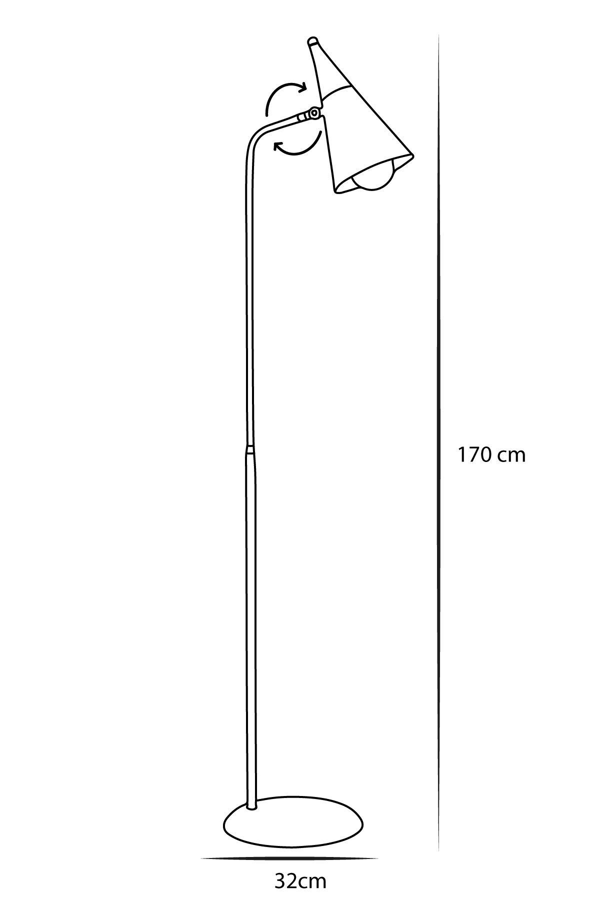 Zeta Sarı-Siyah  Metal Gövde Tasarım Lüx Yerden Aaydınlatma Lambader