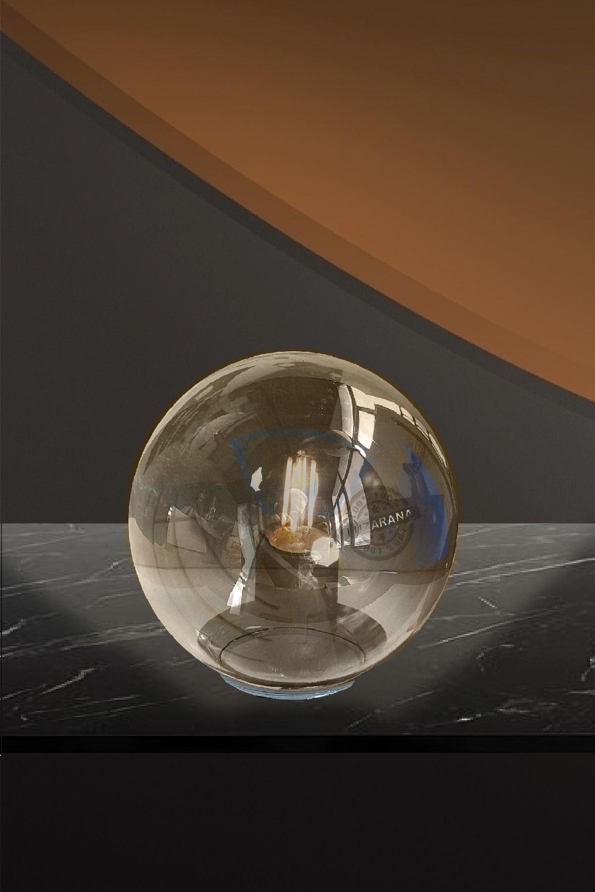 Luzarana Avize-Sarkıt-Lambader 15cm Cam Fanus  (Bal Rengi)
