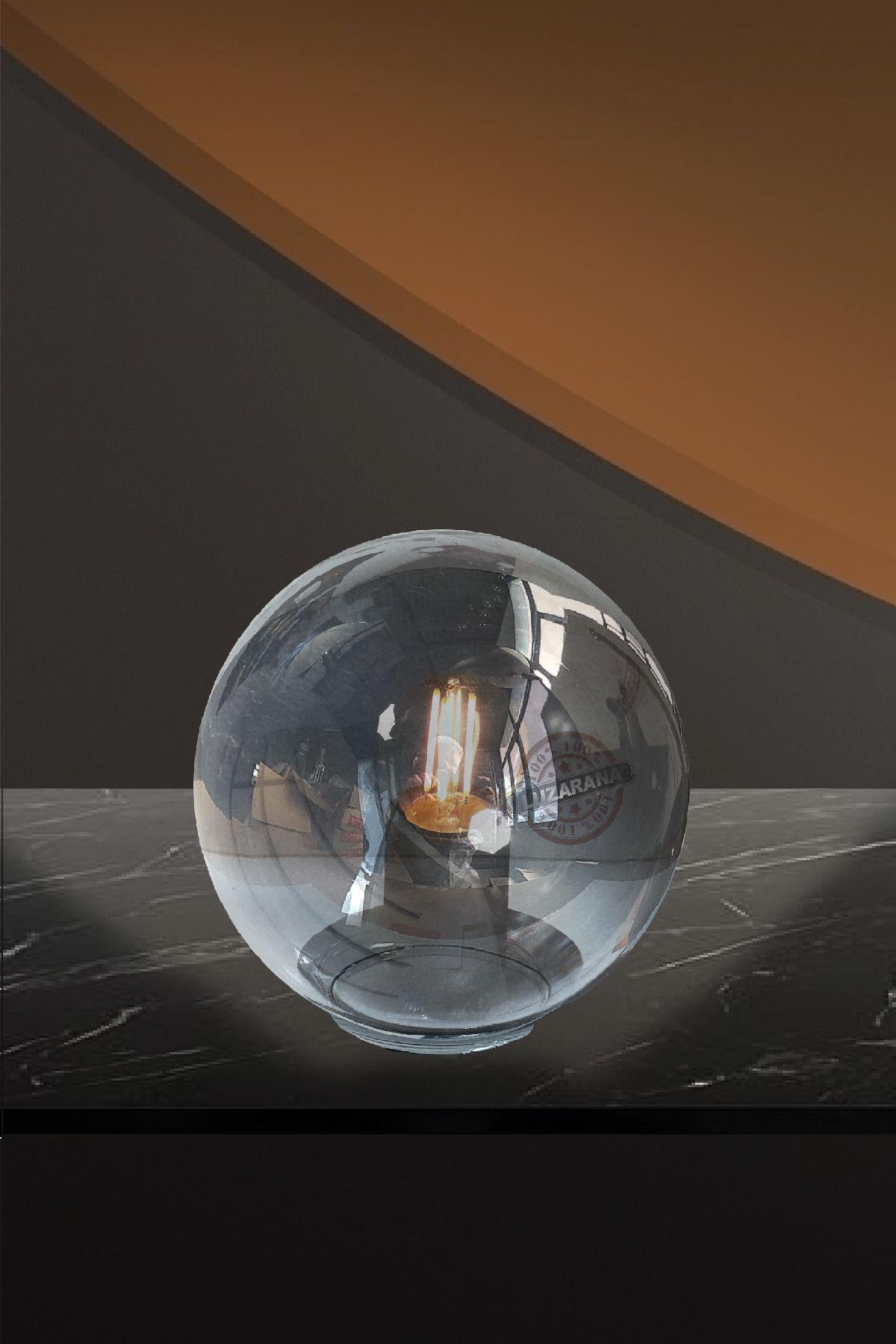 Luzarana Avize-Sarkıt-Lambader 15cm Cam Fanus  (Füme Rengi)