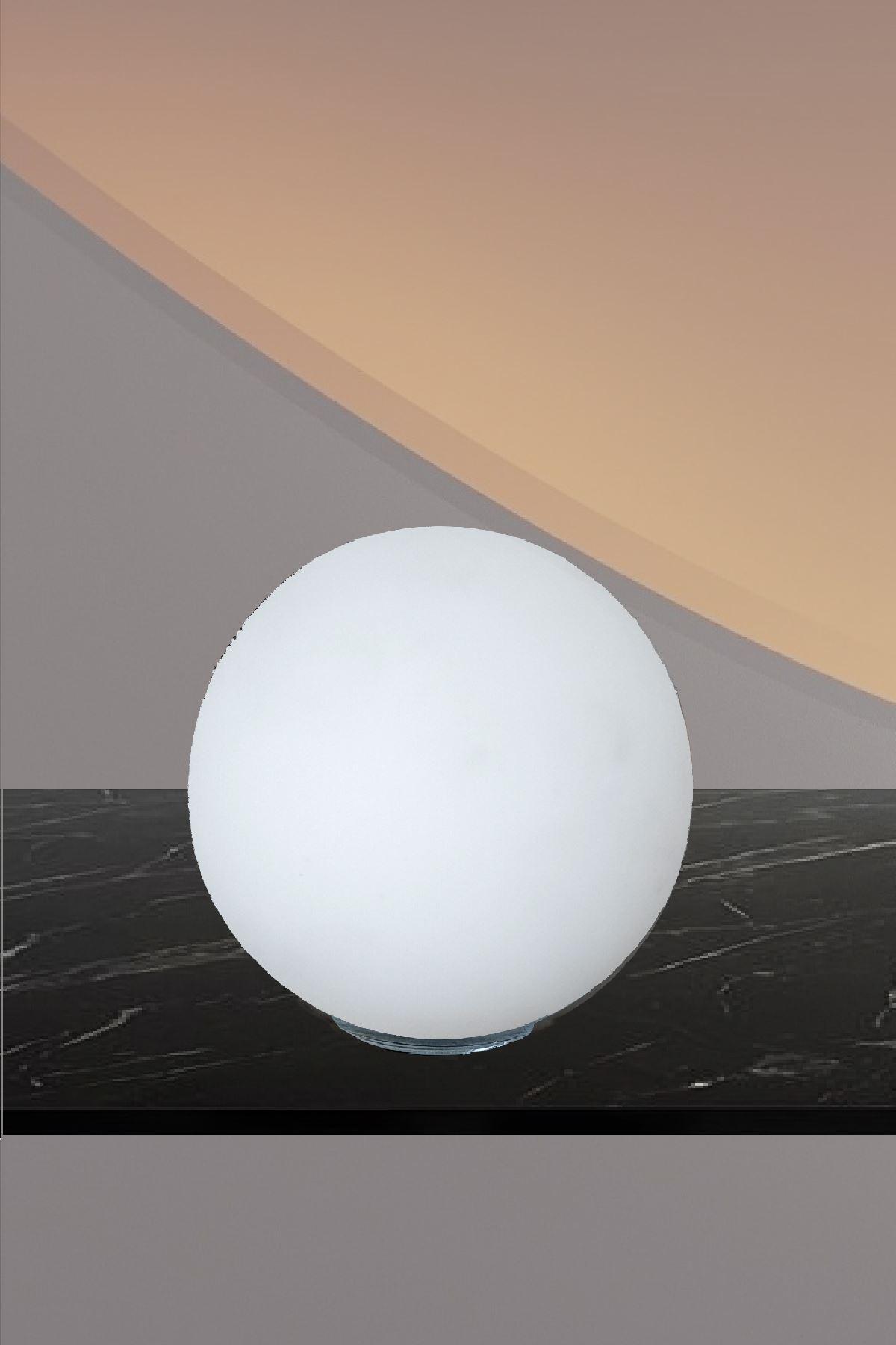 Luzarana Avize-Sarkıt-Lambader 15cm Cam Fanus  (Beyaz Renk)