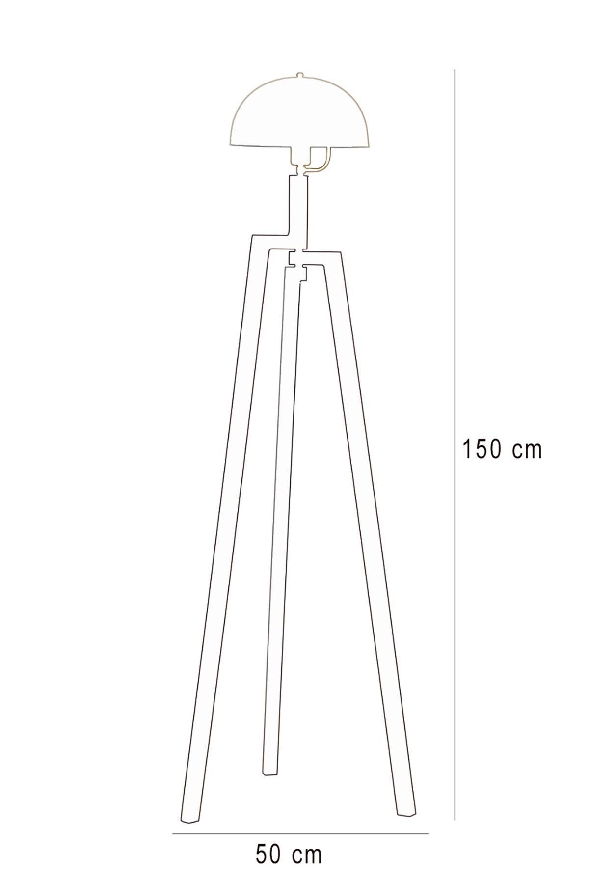 Viyana Kahverengi  Ahşap Gövde Sarı  Başlık Tasarım Lüx Yerden Aydınlatma Lambader